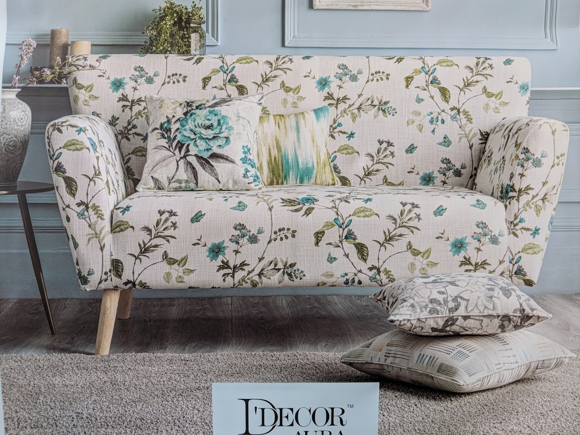 flower printed sofa fabric